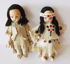 Vintage Dolls Native American Collectible Doll Composition