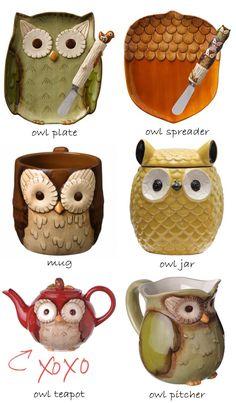 Owl Teapot, Owl Jar and More