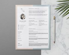 Minimalist Resume Template Word · Creative Resume with Photo · Clean CV Template · Feminine Teacher Resume Design Simple Resume Template, Creative Resume Templates, Cv Template, Resume Cv, Resume Writing, Resume Design, Cover Letter Template, Letter Templates, Conception Cv