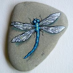 Dragonfly Rocks | Dancing polar bear in bathing suit, hand painted rock paper weight or ...