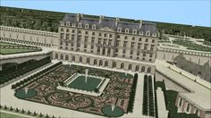French Architecture, Historical Architecture, Architecture Plan, Versailles, Urban Design Plan, Grand Homes, Mansions Homes, Palace Hotel, French Chateau