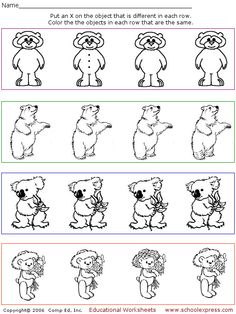 Find the Matching Pictures - 10 free worksheets