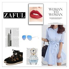"""""""Zaful spring 2017 Promotion"""" by nadipage15 ❤ liked on Polyvore featuring Jouer, Balmain, Marc Jacobs and MAC Cosmetics"""