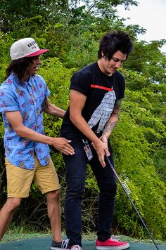 Jaime and Vic golfing