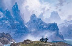 'The Blue Wizards Journeying East' Ted Nasmith