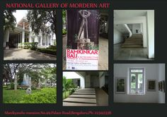The massive Manikyavelu Mansion which is now known as NATIONAL GALLERY OF MORDERN ART is the most beautiful gallery opened for  people who can walk in and admire its beauty  with the famous works of the art by artists who have successfully created a history with their beautiful paintings.