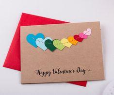 Valentines Card/ Valentines Day Cards/ Happy Valentine Day  #valentinesday #holidays #love #handmade #handcrafted #valentinescards #cards #valentinesgift #giftforher #giftforhim #heart #fashion #style