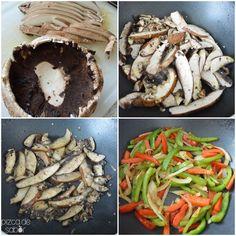 Fajitas vegetarianas de portobello | http://www.pizcadesabor.com/2013/11/12/fajitas-vegetarianas-de-portobello/