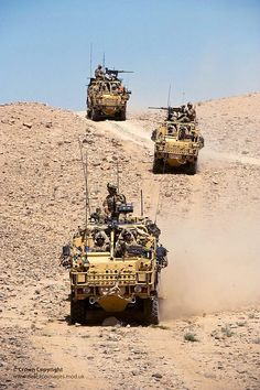 40 Commando Royal Marines Cross Afghan Desert in Jackal Vehicles.
