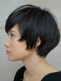 Super cute short hair.