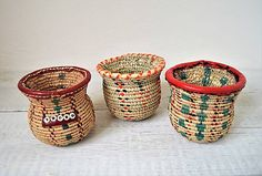 (1) Pletený palmový košík (Mekyal Siwa oasis) / Omar_Handmade - SAShE.sk Wicker Baskets, Oasis, Handmade, Decor, Decorating, Inredning, Interior Decorating, Hand Made, Deck