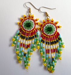 Beaded EarringsSpring Dance by GemRio on Etsy, $28.00