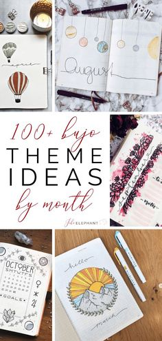 It is always super difficult to come up with a theme. Here is a list of over 100 bullet journal theme ideas organized by month. Bullet Journal Month, Bullet Journal Books, Bullet Journal Themes, Bullet Journal Spread, Bullet Journal Inspiration, Journal Pages, Bullet Journal Project Planning, Bullet Journal Period Tracker, Minimalist Bullet Journal Layout