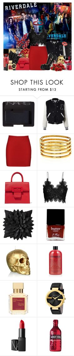 """The River's Edge"" by avenged7x ❤ liked on Polyvore featuring NARS Cosmetics, Apples, Sans Souci, Boohoo, Kenneth Jay Lane, Maison Margiela, H&M, Christian Louboutin, Butter London and philosophy"