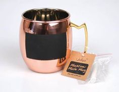 f9e4cf718a57 Never forget who s cup is whose again! These Moscow Mule mugs have a  special chalkboard