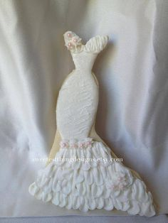 12 Elegant Wedding Dress Cookies/ Bridal Shower Favor/ Wedding Favor By The Sweetest Thing - Designs and Events on Etsy, $72.00