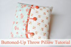 buttoned up throw pillow tutorial