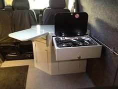Camper interior gallery showing our range of VW interiors from Kustom Interiors, based in Cornwall Ford Transit Camper, T4 Camper, Camping Chuck Box, Van Camping, Honda Element Camper, T5 Bus, Camper Van Kitchen, Small Caravans, Rock And Roll Bed