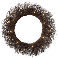 """Natural branches, 17"""" dia, 3 AAA batteries (not included).Tips: Put A Wreath On It. Check out our blogger page featuring Jennifer Stagg, founder of www.withheart.com. She offers 3 fab ways to dress up and display a wreath."""