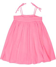 Bonton Pink Shoulder Tie Dress