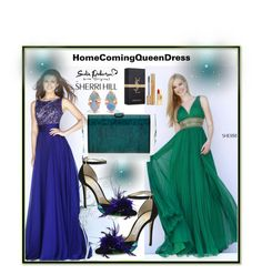 """""""HOMECOMINGQUEENDRESS #1"""" by nizaba-haskic ❤ liked on Polyvore featuring Sherri Hill, Jimmy Choo, Edie Parker, Yves Saint Laurent, WWAKE and homecomingqueendress"""