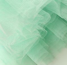Dreamy mint tulle