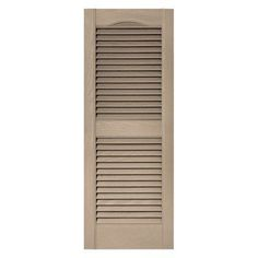 Builders Edge 14.5W in. Louvered Vinyl Shutters Wicker - 010140055023, Durable