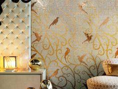 goldmosaic Sicis.com | goudmozaiek verkrijgbaar via mozaiek utrecht | badkamerwand | woonkamerwand