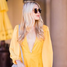 """Mi piace"": 515, commenti: 70 - Modern Ensemble (@modernensemble) su Instagram: ""The color yellow makes me so happy. ☺️ Thinking about spring and this little romper, which happens…"""