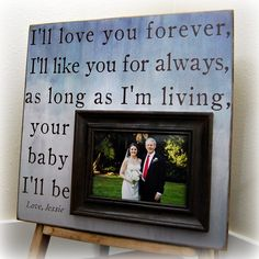 Father Of The Bride Picture Frame Custom Wedding Gift Personalized 16x16 LOVE YOU FOREVER Mother Of The Bride Parents Dad Men Gift