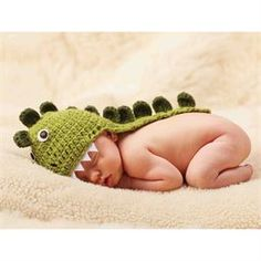 How cute would this be for a newborn photoshoot? Dino Newborn Photo Hat | Baby | Mud Pie