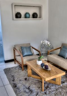 Cool neutral colours - living room
