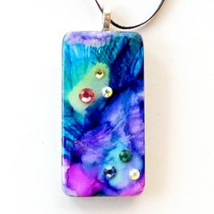 Star Nebula Upcycled Domino Pendant Necklace everything is 30% off this is extraordinary
