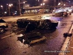 Ferrari 488 GTB crashed in Russia