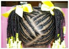 Plain braided ponytails with kanekalon hair and beads and bows. Beads and bows included for extra $5.00 3hr x 12 is $36.00