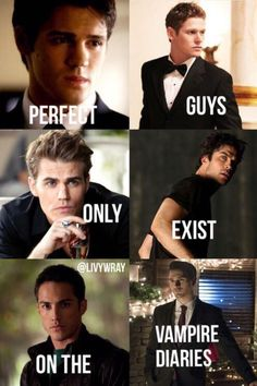 Perfect guys only exist on The Vampire Diaries