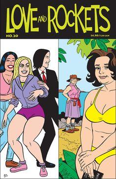 Issue 20 Vol. 2 cover art Jaime & Gilbert Hernandez