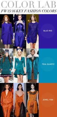 Cartela para o próximo inverno (15) mas que já estão presentes hoje! ;) #tudodelindo! FW 15/16 Key Fashion Colors
