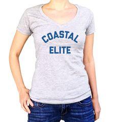 Women's Coastal Elite Vneck T-Shirt - Juniors Fit