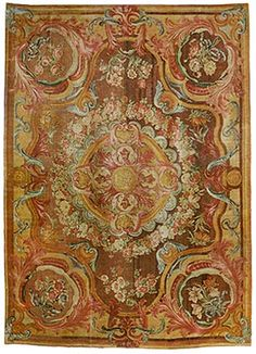 Antique Savonnerie rug Natural Fiber Rugs, Carpet Styles, French Furniture, French Art, Kilim Rugs, Rugs On Carpet, Persian, Art Nouveau, Area Rugs