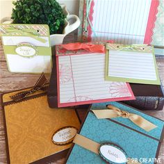 Notebook Craft for Women's Ministry:  Idea to use for retreat notes, prayer lists, etc.