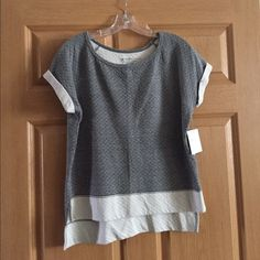 Beyond Yoga Quilted Top NWT NWT Beyond Yoga top, short sleeve, back is longer than front as shown in picture. Beyond Yoga Tops Tees - Short Sleeve