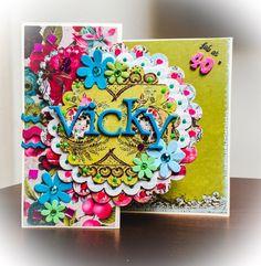 handmade Birthday Card, personalised, special day, flowers, 40th birthday, anniversary, handmade craft, paper, friends card, flowers, UKshop