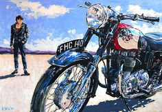 motorcycle artwork   Motorcycle Art - Ian Cater