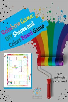 DIY Colors and Numbers Cooperative Rainbow Game Includes Free Printable Game Learning Games For Kids, Fun Activities For Kids, Kindergarten Activities, Diy Games, Free Games, Crayon Template, Rainbow Games, Color Games, Family Game Night
