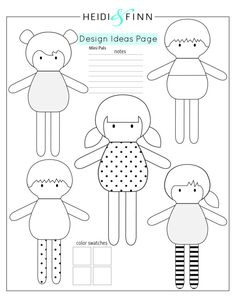 Mini Pals weiche Stoffpuppe Schnittmuster Spielzeug Softie gefüllt & Etsy & Mini Pals Soft Rag Doll Sewing Pattern Toy Softie & Etsy & The post Mini Pals Soft Rag Doll Sewing Pattern Toy Softie Softies, Doll Toys, Baby Dolls, Sewing Crafts, Sewing Projects, Sewing Ideas, Animal Sewing Patterns, Pattern Sewing, Felt Doll Patterns