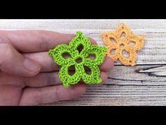 Love Crochet, Crochet Flowers, Tiny Flowers, Crochet Projects, Crochet Earrings, Album, Youtube, Crochet Leaves, Flowers