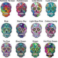 Care Bear Tattoos, Sugar Skull Artwork, Skull Crafts, Beer Cooler, Car Trailer, Vinyl Junkies, Insulated Cups, Swirl Pattern, Custom Motorcycles