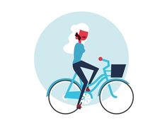 Girl calling on bike