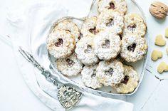 Omlós linzer diós tésztával (bögrésen is) Muffin, Biscotti, Doughnut, Cupcakes, Cookies, Baking, Breakfast, Christmas, December